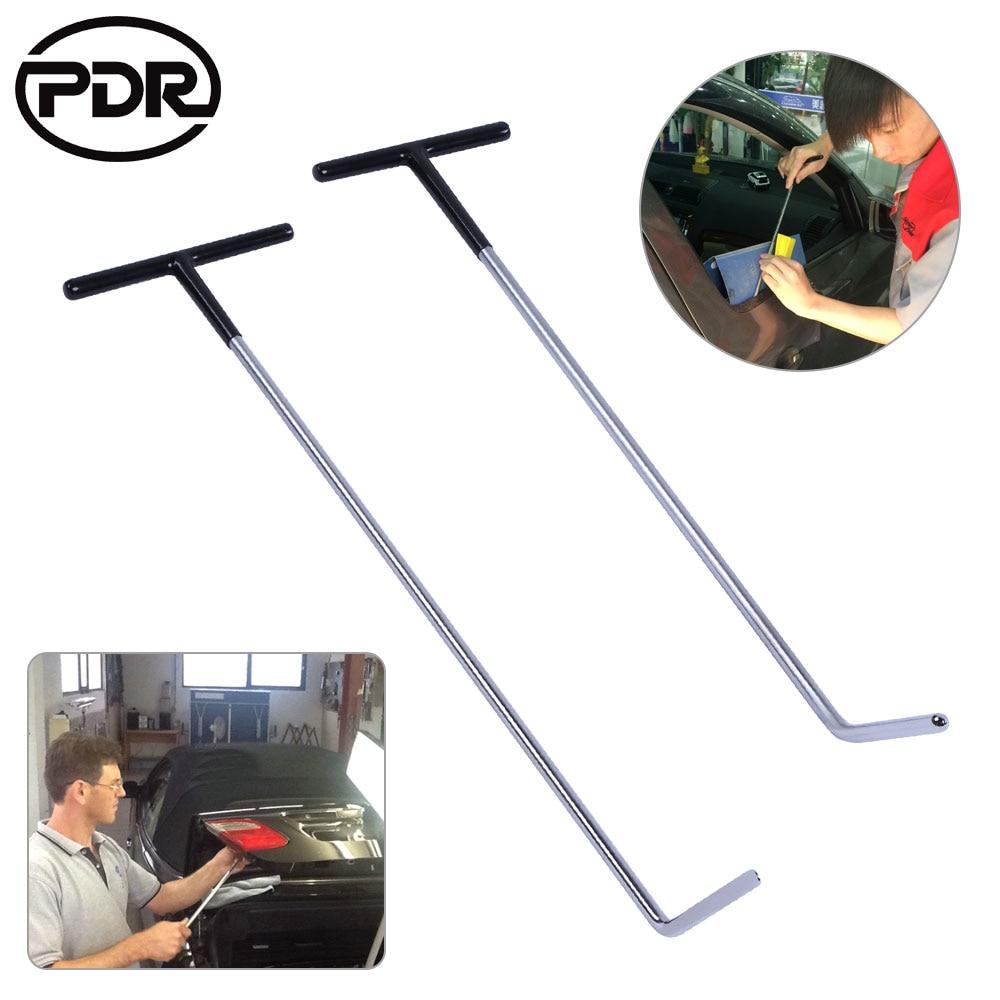 2pcs set PDR Rods Crowbar Paintless Dent Repair  Tools Mini Rods Hooks PDR Tools Kit For Car Dent Removal Tool Kit