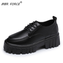 MBR FORCE Classics Women Chunky Casual Hidden Heels Height Increasing Ladies Square Shoes High Top Autumn Platform Women Shoes