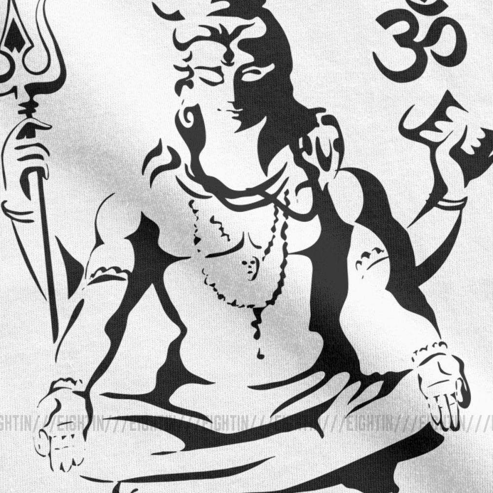 Lord Shiva Sketch T Shirts Men Short Sleeve Stylish Tee Shirt