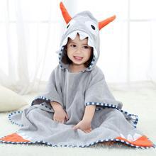 Хлопковое детское полотенце с капюшоном, детский банный халат, детское банное полотенце, пончо для новорожденных, мягкое пляжное полотенце с капюшоном для малышей