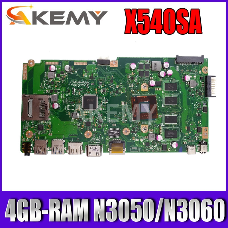 NEW X540SA mainboard 4GB-RAM N3050/N3060 CPU REV 2.0 For Asus X540 X540S X540SA X540SAA laptop motherboard Test ok image