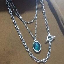 Anslow 2020 дизайнерская Модная бижутерия романтическая кристальная подвеска многослойная цепочка для свитера ожерелье для женщин Женский под...