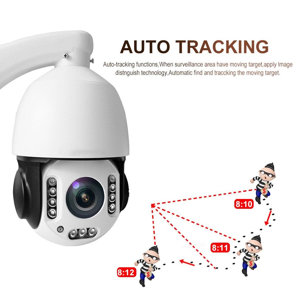 Nova 5mp sem fio de rastreamento automático câmera ip ptz 20x zoom ir120m wifi alta velocidade câmera dome p2p onvif h.265 casa cctv câmera
