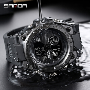 Image 5 - Sport Heren Horloge Topmerk Luxe Militaire Quartz Elektronische Horloges Waterdicht Vibratie Wekker Relogio Masculino Sanda