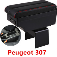 For Peugeot 307 armrest box central Store content box car styling decoration accessory|Armrests|   -