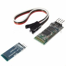 AMS-Biru 4 Pin HC-06 RS232 Nirkabel Bluetooth RF 5V Transceiver Modul + Kabel UNTUK ARDUINO(China)