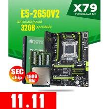 HUANANZHI X79 Motherboard LGA2011 ATX Combos E5 2650 V2 CPU 4 stücke x 8GB = 32GB DDR3 RAM 1600Mhz PC3 1280R PCI E NVME M.2 SSD