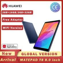 Versão global huawei matepad t8 2gb 16gb/32gb wifi tablet pc 8.0 polegada faceunlock 5100mah suporte cartão microsd android10 t8