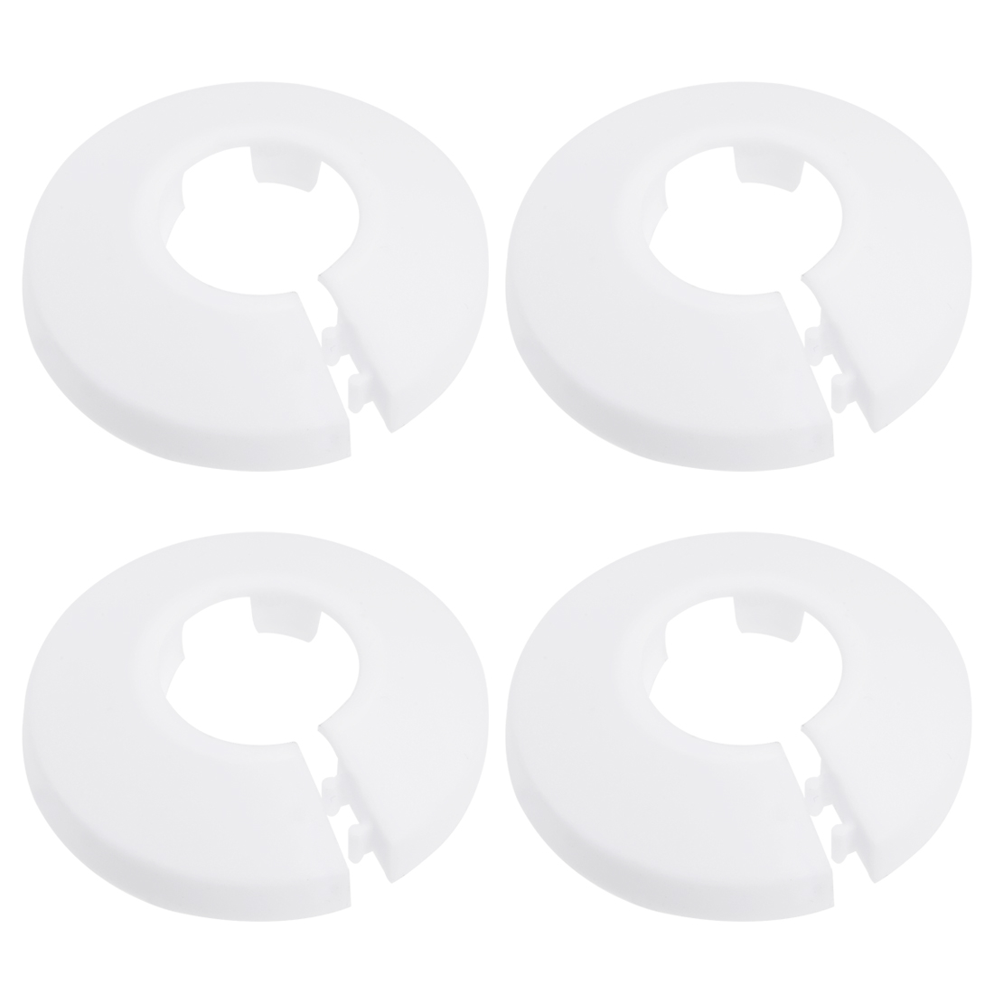 Uxcell Pipe Collar 21mm PP Radiator Escutcheon Water Pipe Cover Decoration White 4 Pcs