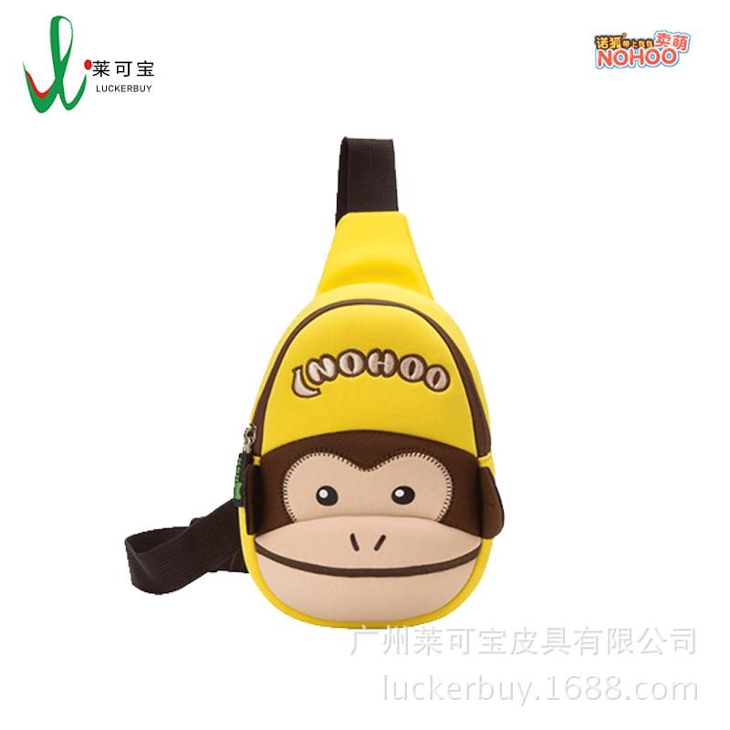 NOHOO KID'S Messenger Bag Cute Paul Frank Chest Bag Men And Women Travel Shoulder Bag Students Chest Fang Dao Dai