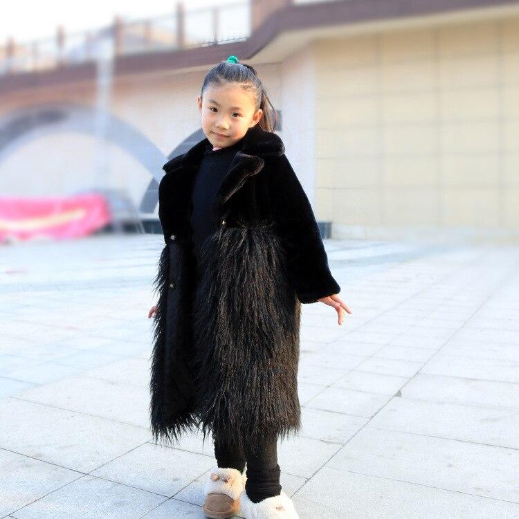 PPXX 2019 Winter Baby Girl Fur Coat Woolen Jacket Wool Children Faux Rabbit Fur Coats Warm Thick Kids Winter Outwear Plus Size