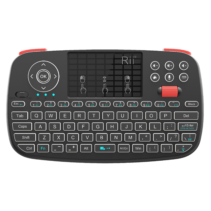 Rii I4 Mini Bluetooth Keyboard 2.4GHz Dual Modes Handheld Fingerboard Backlight Mouse Touchpad Remote Control For Windows Androi