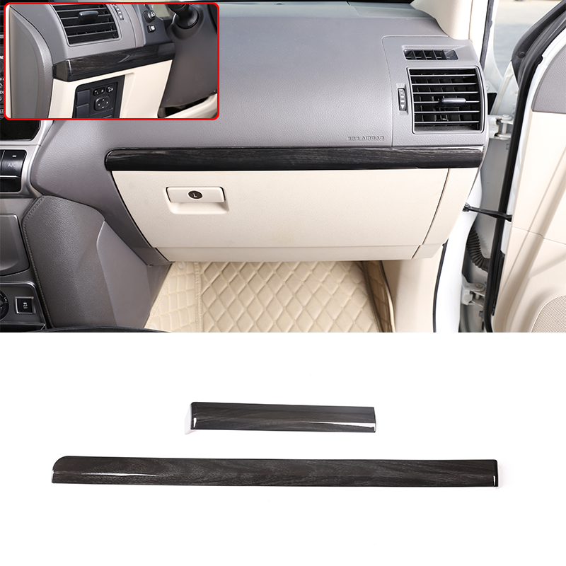 For <font><b>Toyota</b></font> Land Cruiser <font><b>Prado</b></font> FJ150 150 2018 <font><b>2019</b></font> ABS Interior Passenger Side Decoration Strip Trim LHD Car <font><b>Accessories</b></font> 2 Pcs image