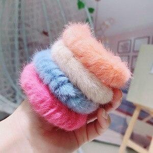 winter hair band plush hair head rubber band headband hair accessories gumki do wlosow crunchy hair tie crunchy hair tie gum
