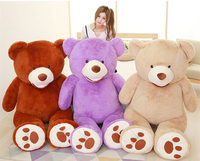 [Funny] Full filled Large size 130cm Giant America bear doll toy animal teddy bear stuffed plush toys soft doll child adult gift