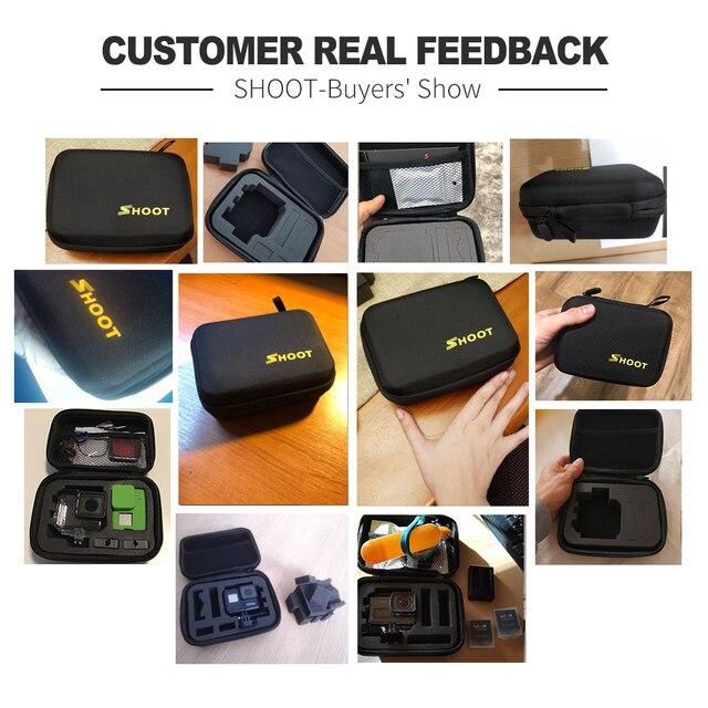 SHOOT Portable Small EVA Action Camera Case for GoPro Hero 8 7 6 5 Black Xiaomi Yi 4K Sjcam Sj4000 Eken H9r Box Go Pro Accessory 5
