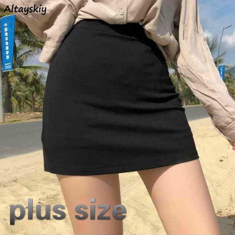 Spódnice damskie wysokiej talii linia prosta w jednolitym kolorze Slim wszystkie mecze koreański styl Chic moda elegancka Vintage nowość damska modna nowość