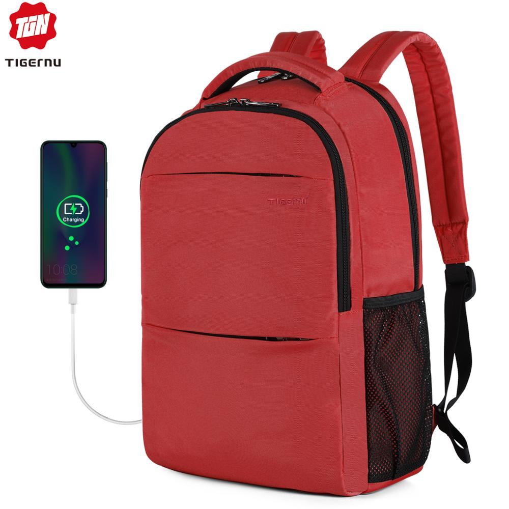 Tigernu New 15 Inch Female Anti Theft Laptop Backpack Usb Charging Bags For Women Ttavel School Mochilas