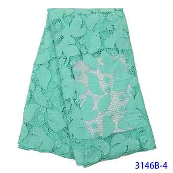 Aqua green Milk Silk Lace Fabric Latest French Silk Milk Lace Fabric High Quality African Tulle Mesh Nigerian Lace Fabric Dress