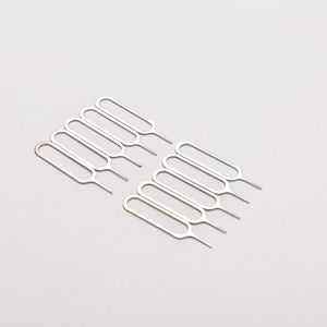 10pcs/set Sim Card Tray Removal Eject Pin Key Tool Stainless Steel Needle for huawei for iPhone iPad Samsung