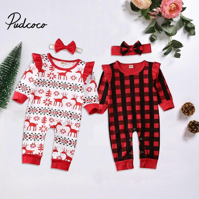 Weihnachtsm/ütze Strampler Overall Geagodelia Baby-Set f/ür Neugeborene Hirschhose Weihnachtskleidung