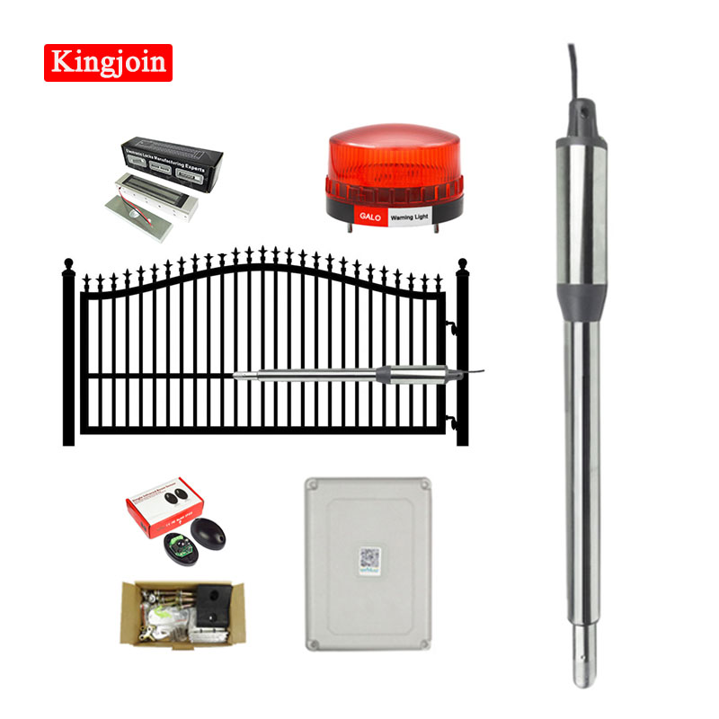 Automatic (660lb) Single Swing Automatic Gate Opener Kit Suitable for Opening Gates /Gate Motor Solar Powered Optional|Access Control Kits| |  - title=