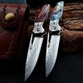 Складной нож высокого качества, тактическая бритва, дамасское лезвие, подшипник, карманные ножи для охоты и выживания, боевой инструмент дл...
