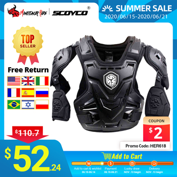 SCOYCO CE Motorcycle Armor Motocross Chest Back Protector Armour Vest Motorcycle Jacket Racing Protective Body Guard MX Armor wosawe motorcycle armor jacket motocross body protector ghost racing riding moto protective guard armor chest back protection
