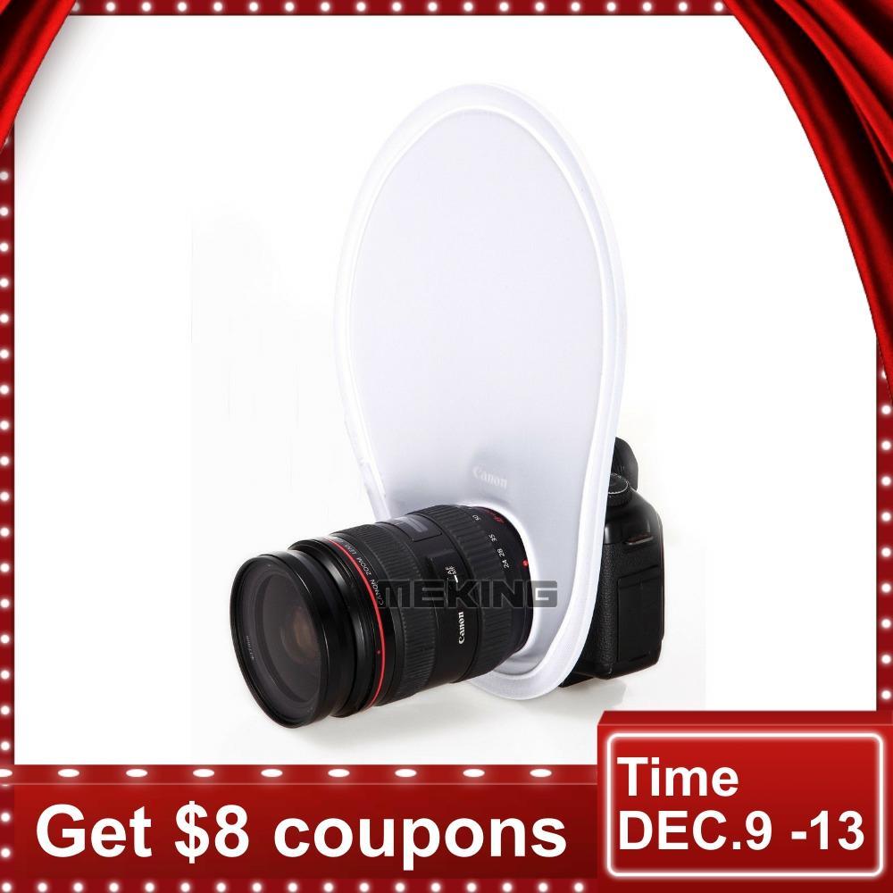 Meking Photography Flash Lens Diffuser Reflector Flash Diffuser Softbox For Canon Nikon Sony Olympus DSLR Camera Lenses
