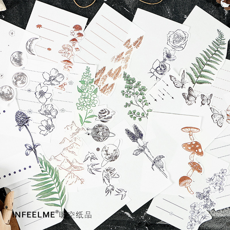 Vintage Eucalyptus Notepad Plants Animals Butterfly Series Memo Pad Sticky Notes Escolar School Supply Bookmark Notepad Label