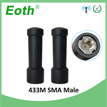 2pcs 433 MHz Antenna 2~3dBi SMA Male Connector Mini Size 433MHz antena directional antenne for wireless Lorawan watermeter 433m
