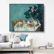 Cassisy Canvas Oil Painting《Still Life with Flowers and Fruit》 Paul cezanne Art Poster Wall Decor Decoration For Living room cezanne