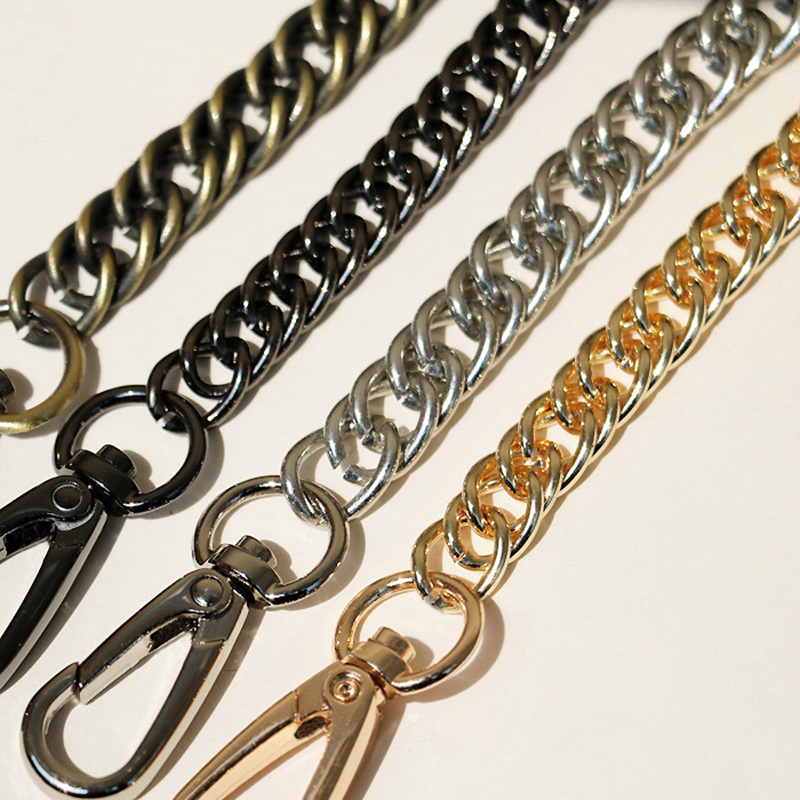 Diy Length!10mm Gold, Silver, Gun Black Metal Replacement Chains Shoulder Crossbody Bag Straps For Handbags Purse Handles