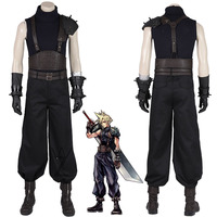 Game Final Fantasy VII Costume Cloud Strife Cosplay Uniform Halloween Carnival Costume for Adult Men Pants Suit Boys