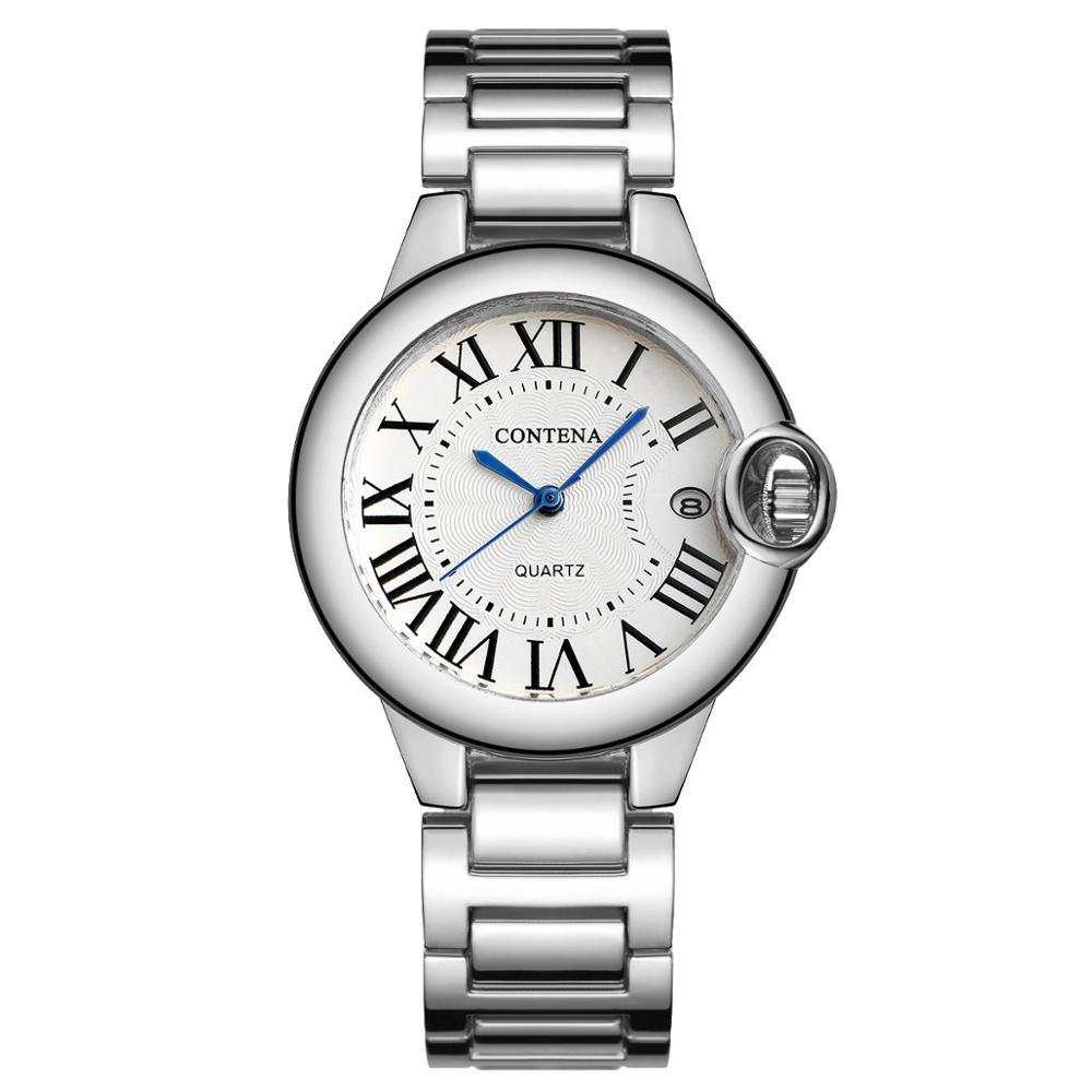 CONTENA Women Wristwatch Luxury Fashion Full Steel Ladies's Watches Quartz Montre Femme Relojes Mujer Gift Clock