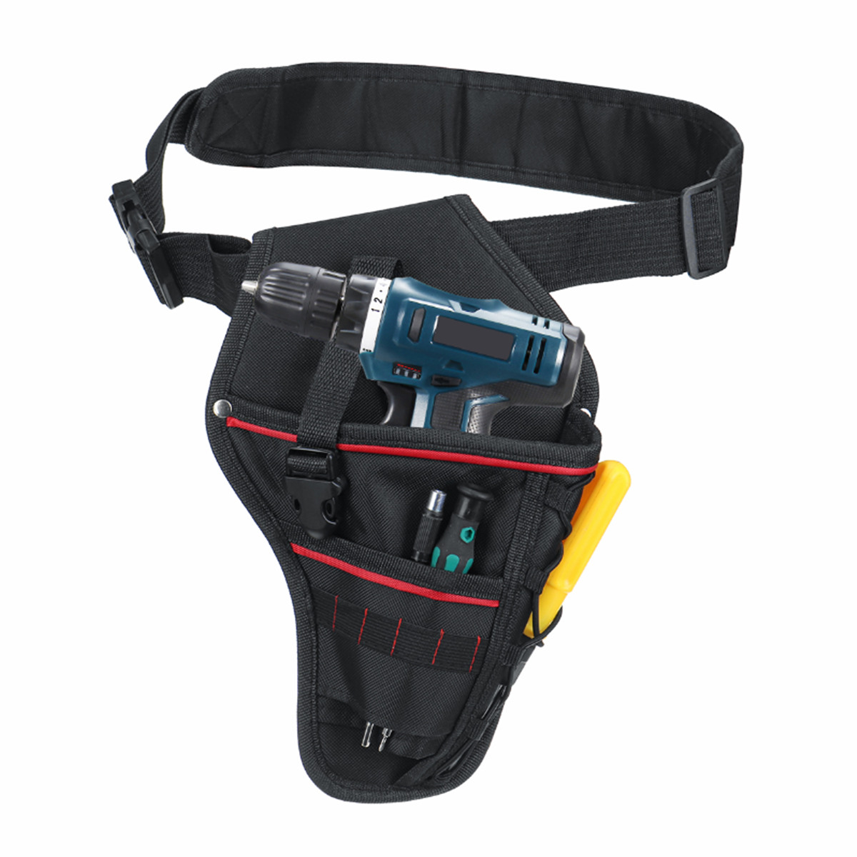 Multi-functional Drill Waist Tool Bag Electrician Waist Tool Pouch Storage Bag For Wrench Hammer Screwdriver Cordless Drill