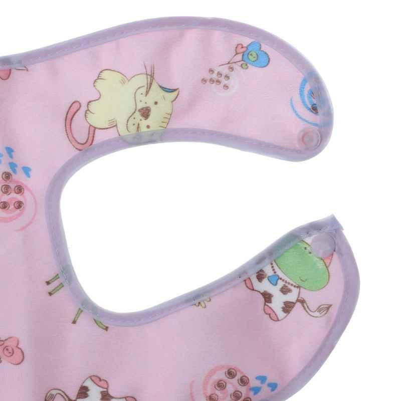 아기 턱 받이 방수 만화 귀여운 버클 두건의 타액 타액 소년 소녀 먹이 앞치마 턱 받이 유아 어린이 용품