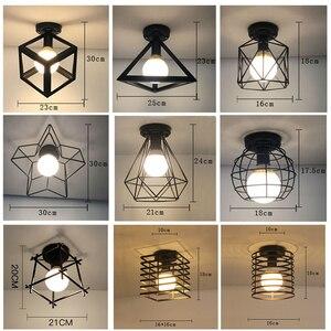 Image 2 - Bắc Âu Hiện Đại Đen E27 Đèn LED Ốp Trần 85 240V AC Đèn Cho Nhà Bếp Phòng Khách Phòng Ngủ Hiên Nhà Ban Công nhà Hàng Khách Sạn