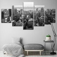 Современный домашний декор серый городской холст картина Скандинавское