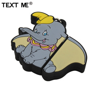 TEXT ME cute Animal elephant usb 2.0 usb flash drive 4GB 8GB 16GB 32GB 64GB wdeeing gift