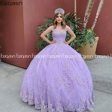 Ball-Gown Quinceanera-Dress 16-Dresses Celebrity Lilac Anos Lace Applique Sweet Vestido