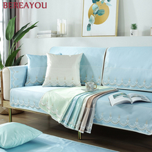 Фото - 1Pcs Summer Sofa Cover Towel Couch Covers Ice Silk Sofa Towel For Living Room Home Slipcover Sectional Corner Decor Slipcover microsuede couch slipcover cream 270 x 350 cm