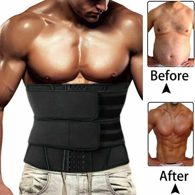 Men Waist Trainer Neoprene Sauna Underwear Cincher Corset Slimming Belt Modeling Strap Sweat Body Shaper Reductora Unisex Girdle