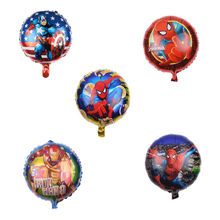 Avengers Foil Balloon Superhero Kids Party Decoration Hulk Captain America Superman Batman Iron Man Spiderman Balloon(China)