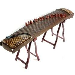 Nanmu desempenho profissional de madeira maciça china guzheng música bambu deslizamento mestre zither 21 cordas com acessórios completos