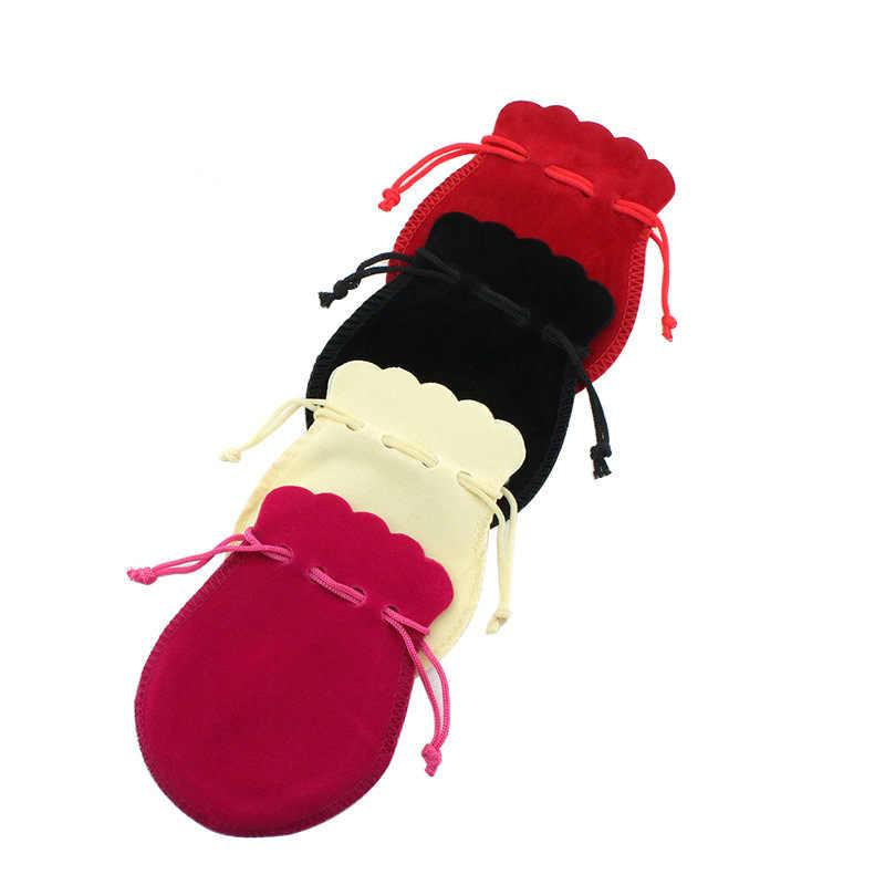 Serut Hadiah Tas 50 Pcs/lot 7X9 9X12 Digunakan untuk Pernikahan Permen Kue Tas Iklan Tas Perhiasan kantong Beludru Tas Kemasan
