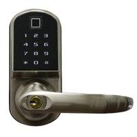 Smart Electronic Door Lock Code Door Lock Mechanical Keys Press Screen Keypad Digital Password Lock Keyless Electronic Lock Smar|Electric Lock|Security & Protection -