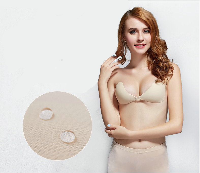 CXZD Seamless Self Adhesive Fly Bra Strapless Push Up Bra Wireless Stick On Sexy Lingerie Invisible Silicone Women Bra (4)