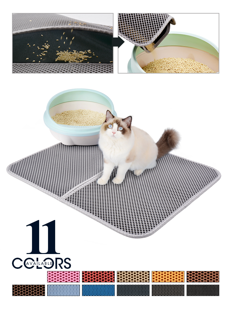 Litter-Mat Non-Slip-Pad Clean-Pad Cats-Clean-Accessories Cat Toilet Sand Double-Layer