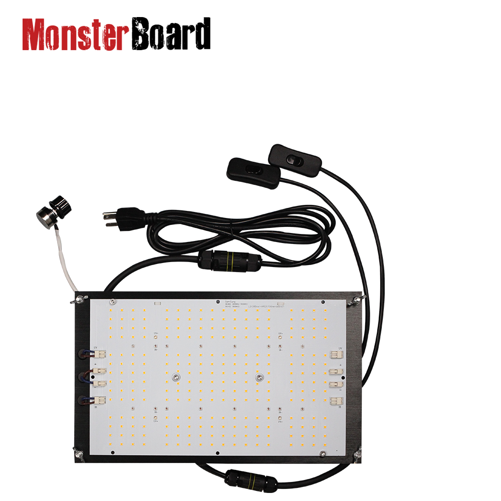 Led Grow Light Samsung Lm301h Cree 660nm 120w Monster Board / Uv Ir Switches V4-plus With Dimmer
